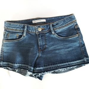 Zara Trafaluc 28 Open Raw Jean Shorts Released hem